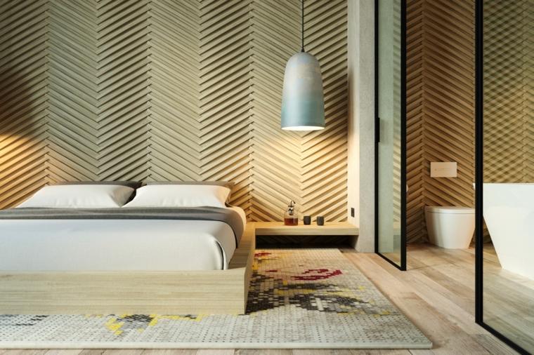 pannello-decorativo-camera-letto-color-beige-abat-jour-sospensione-comodino-legno-bagno-padronale-vista