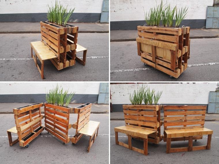 riciclo-creativo-pallet-mobile-esterno-vaso-parte-superiore-due-sedute