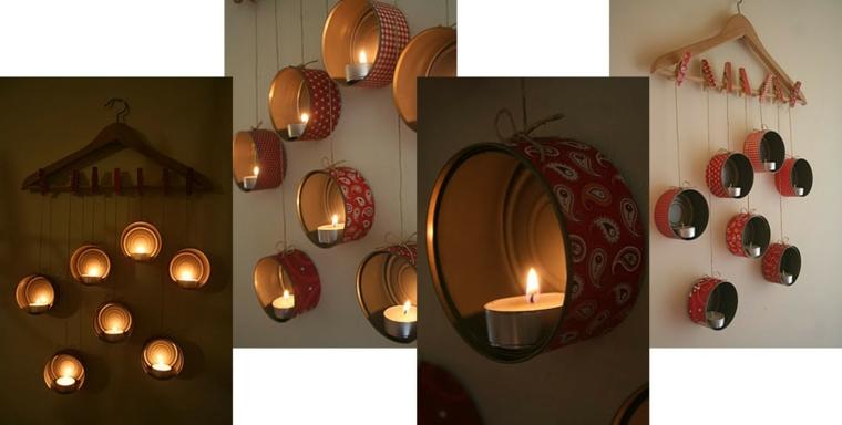 riciclo-creativo-porta-candele-appendere-parete-appendiabito-barattoli-alluminio