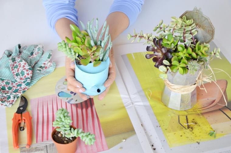 1001 idee per un riciclo creativo utile originale e - Porta piante fai da te ...