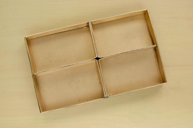 Scatola organizer per trucchi fai da te, riciclo creativo, organizer di carta con scomparti