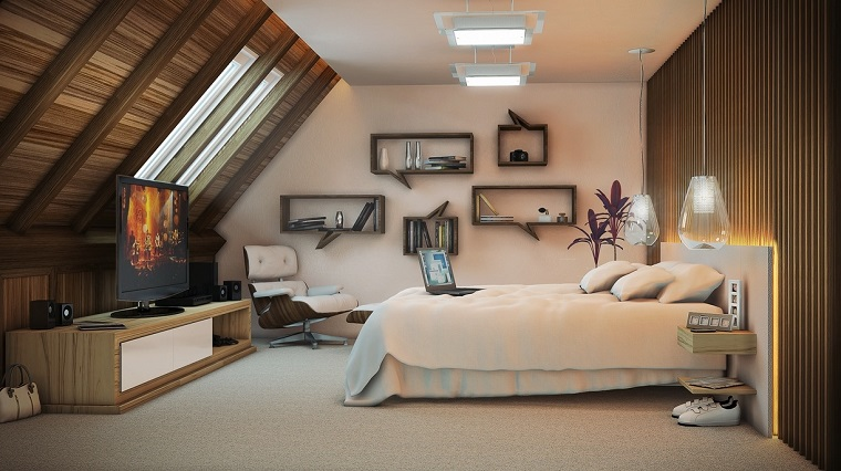 Illuminazione Camera Da Letto Mansardata : ▷ idee come arredare la camera da letto con stile