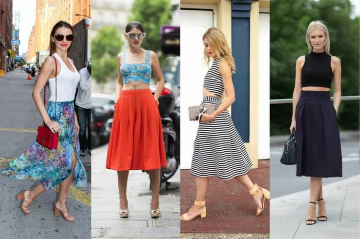abbigliamento-casual-quattro-look-da-copiare-idee-gonna-top-corto-tacchi-accessori-da-abbinare