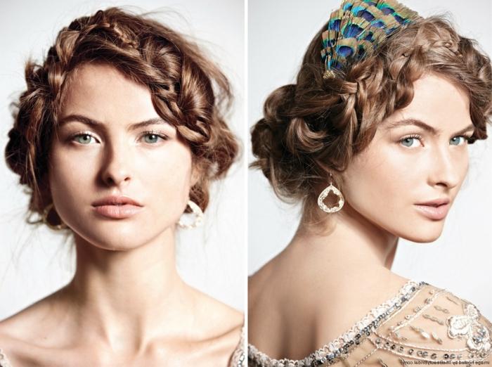 acconciatura-medievale-due-immagini-ragazza-capelli-lunghi-castani-raccolti-treccia-fascia-nuca