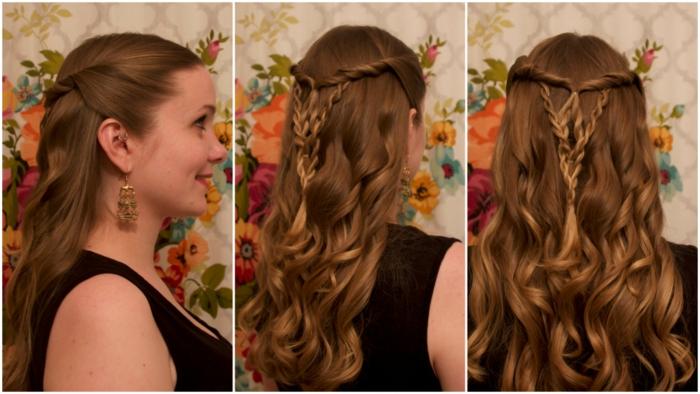 acconciature-medievali-tre-immagini-mostrano-semi-raccolto-trecce-ragazza-capelli-lunghi