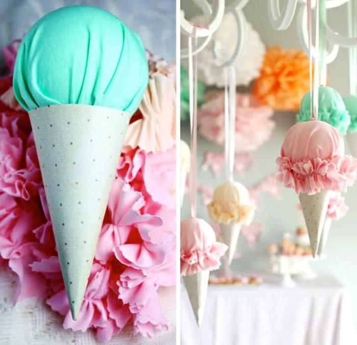 addobbi-fai-da-te-casa-idea-originale-gelato-cono-tessutto-palline-ripiene-ovata-colore-diverso-attaccate-filo