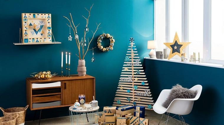 Alberi Di Natale In Legno Da Parete : ▷ 1001 idee per alberi di natale originali tutorial fai da te