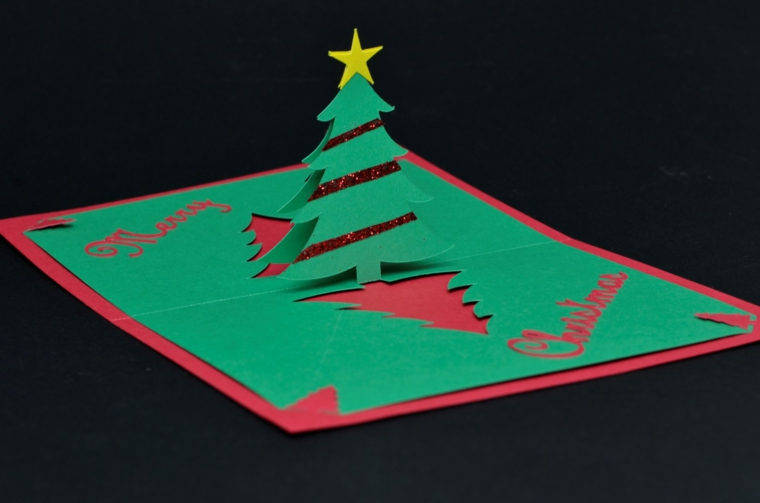 le figure pop up sono molto gettonato per i bigliettini di auguri natalizi