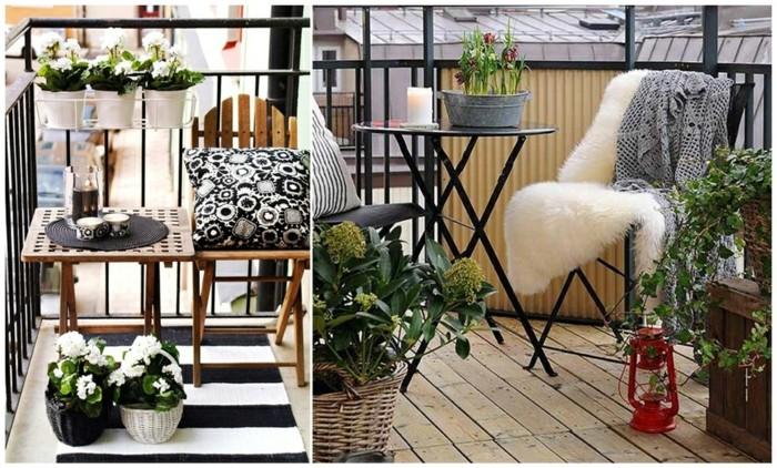 1001 idee per arredare il balcone piccolo con accenti di for Arredo terrazzo ikea