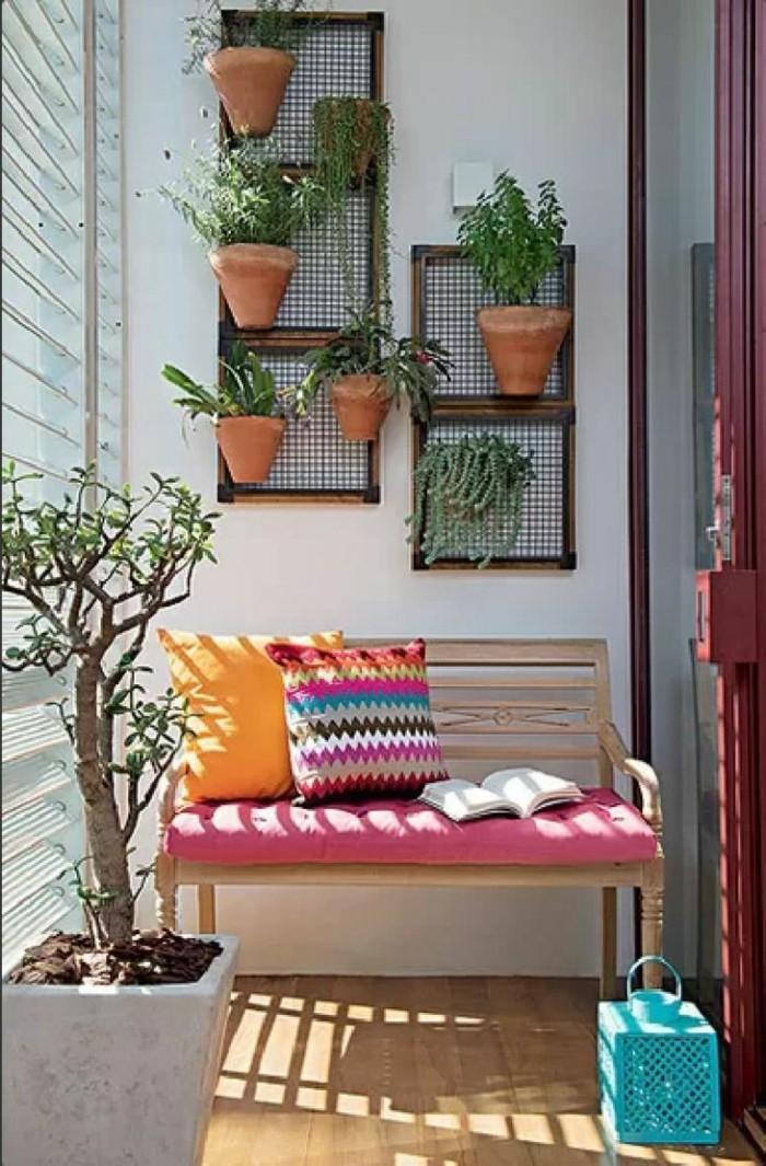 1001 idee per arredare il balcone piccolo con accenti di for Idee arredo balcone