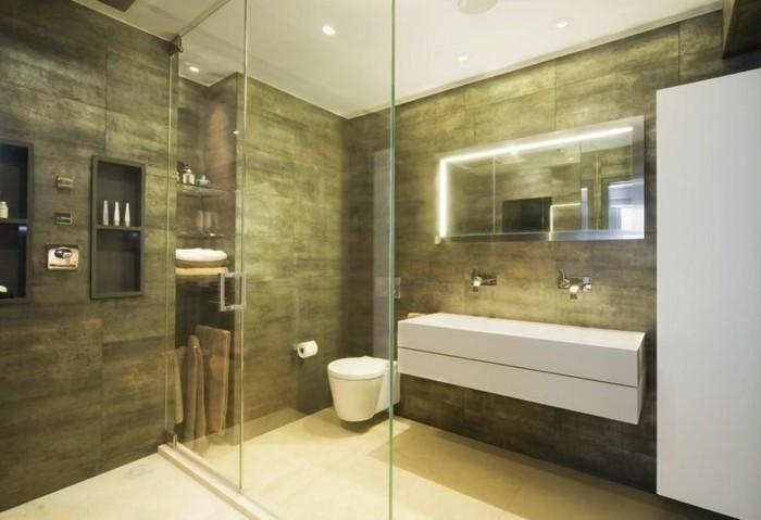 1001 idee per il bagno senza piastrelle molto creative - Mature in bagno ...