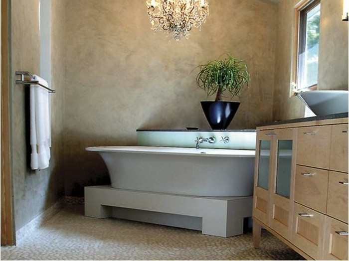 1001 idee per il bagno senza piastrelle molto creative - Pittura per piastrelle bagno ...