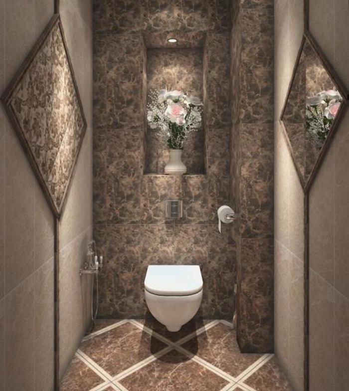 bagno-classico-decorazione-pareti-piastrelle-stile-barocco-tonalità-colore-scuro-eleganti