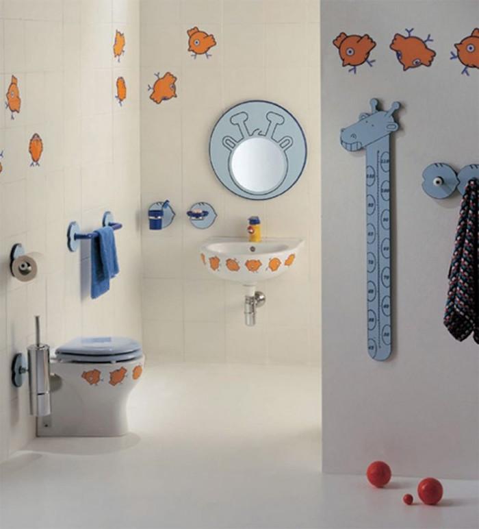bagno-moderno-bambini-decorazione-sticker-murali-metro-giraffa-tonalità-colore-blu-arancione