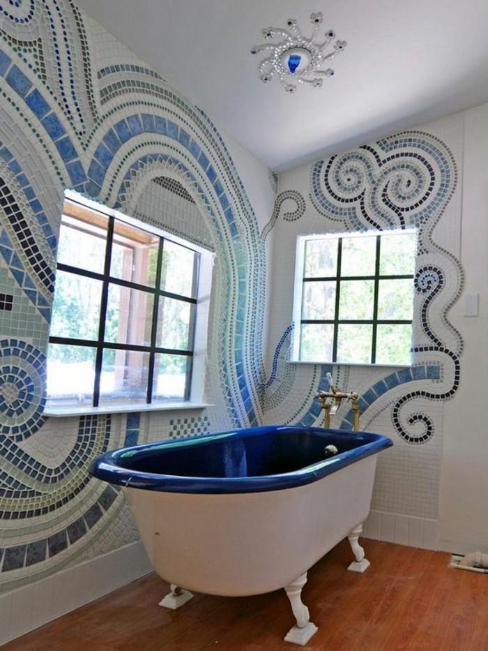 1001 idee per il bagno senza piastrelle molto creative - Piastrelle bagno nere ...