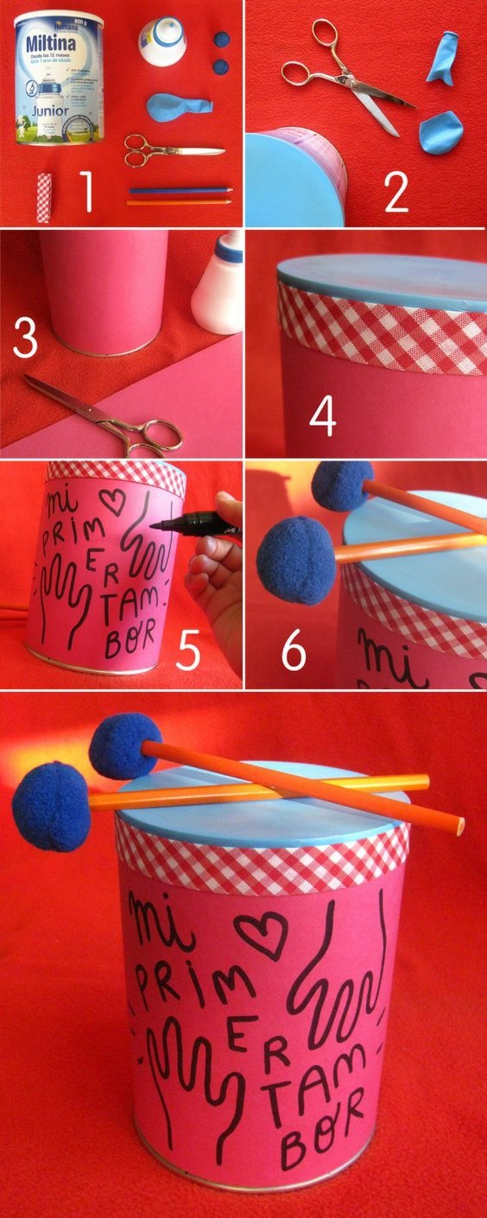 barattoli-in-latta-idea-fai-da-te-tamburo-decorata-carta-colore-rosa-scritte-tessuto-azzurro