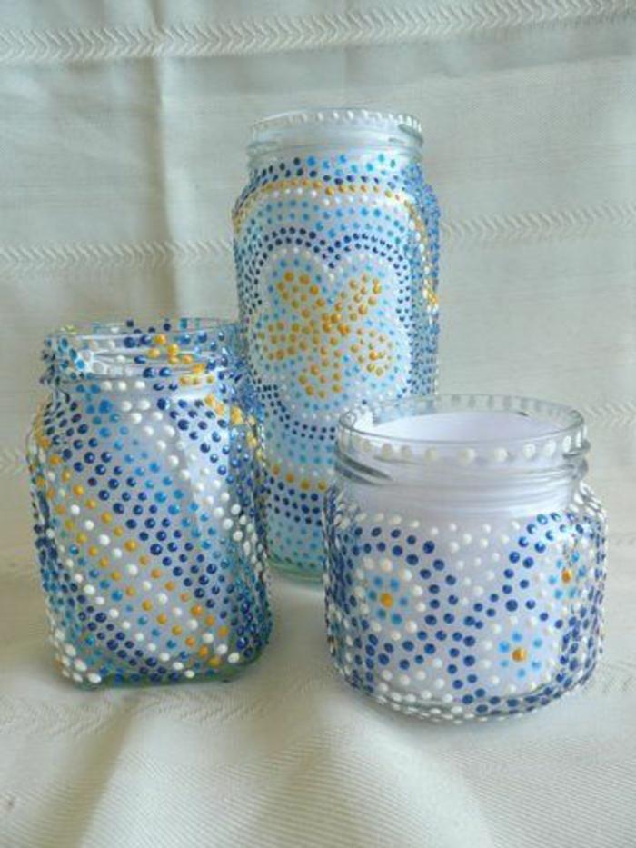1001 idee per barattoli di vetro decorati belli e facili - Decorazioni vetro ...