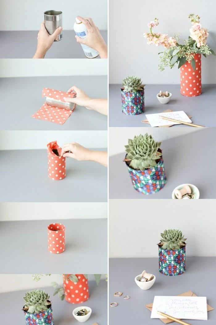 barattoli-latta-decorazione-carta-colorata-pois-vaso-piante-grasse-fiori-passo-per-passo-spray