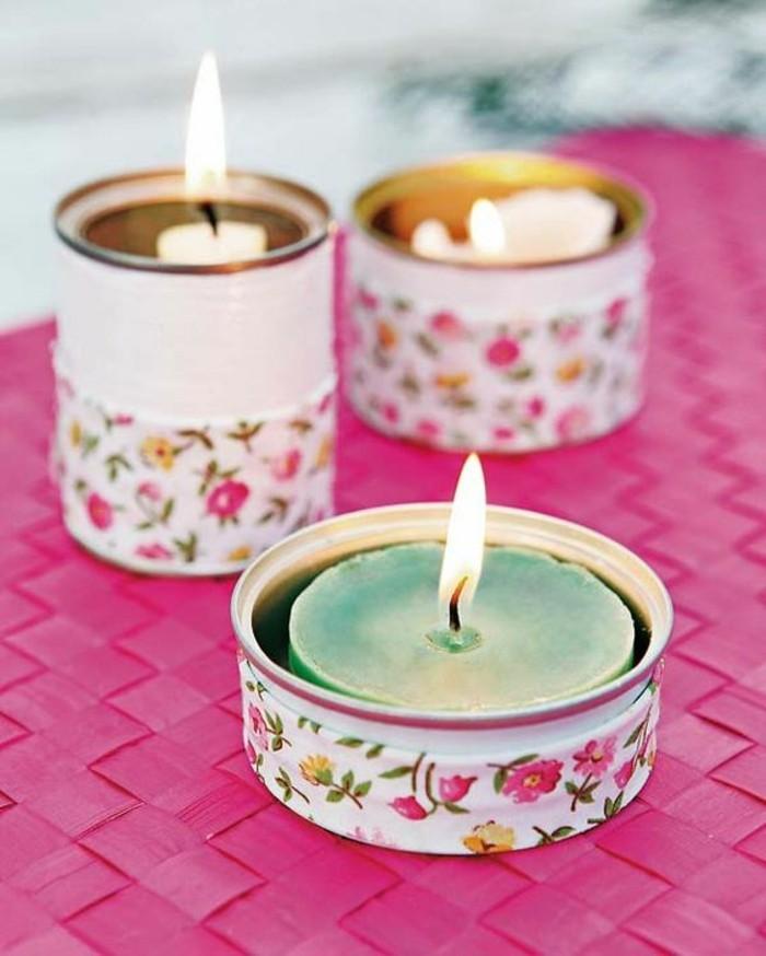 barattoli-latta-idea-fai-da-te-decorazione-stile-vintage-stoffa-colorata-vernice-bianca-portacandele