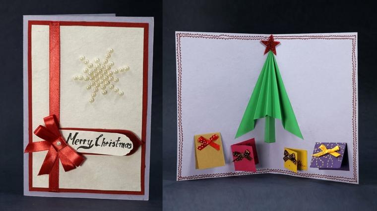 biglietti natalizi, una proposta completa di busta da realizzare semplicemente anche fai da te
