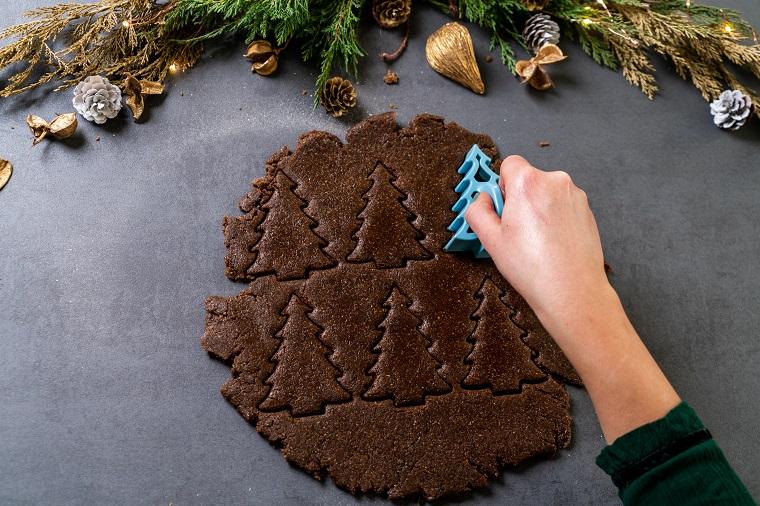 Formina per biscotti albero di Natale, impasto per biscotti, ricetta biscotti natalizi