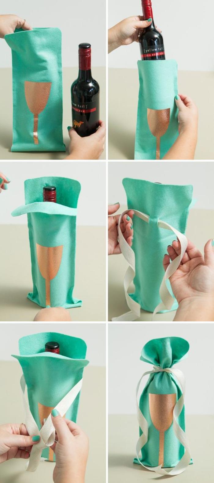 bottiglie-di-vino-personalizzate-step-by-spep-sachettino-regalo-colore-turchese-nastro-stencil-bicchiere