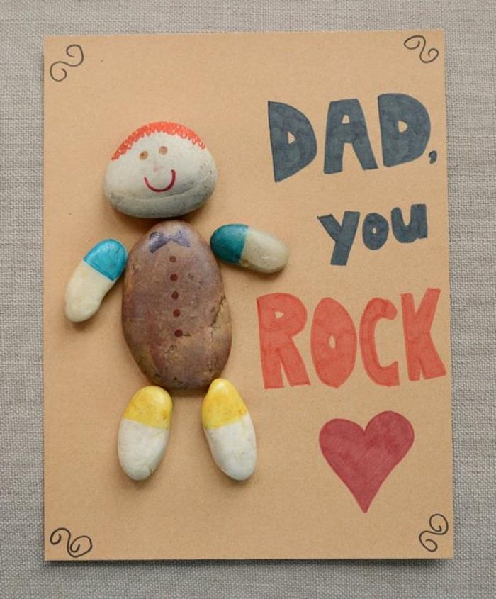 cartolina-regalo-festa-papà-sassi-diseganti-forma-uomo-scritta-colorata-cuore-idea-regalo-fai-da-te-bambini