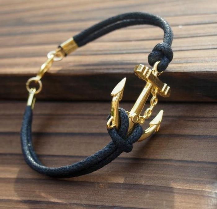 casual-accessorio-donna-braccialetto-colore-blu-ancora-stile-elegante-chic