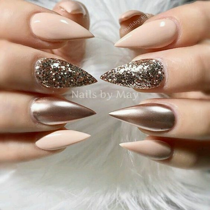 come-fare-le-unghie-idea-decorazione-smalto-glitter-forma-unghia-stiletto-smalto-gel-top-coat