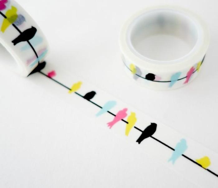 come-scrivere-un-diario-di-viaggio-scotch-adesivo-decorativo-colorato-disegni-uccelli