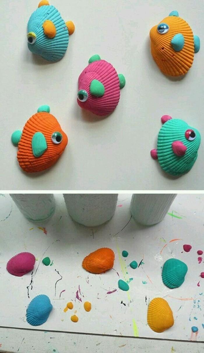 conchiglie-trasformate-pesci-colorati-tempera-occhi-mobili-branchie-piccole-conchiglie