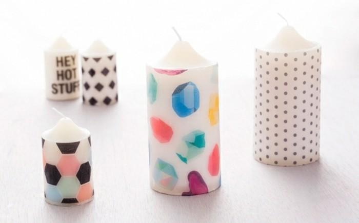 cosa-regalare-alla-migliore-amica-delle-candele-decorate-motivi-originali-pois-scritte-esagoni