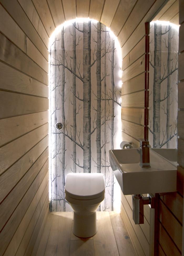 1001 idee per decorazioni bagno idee originali - Decorazioni in legno per pareti ...