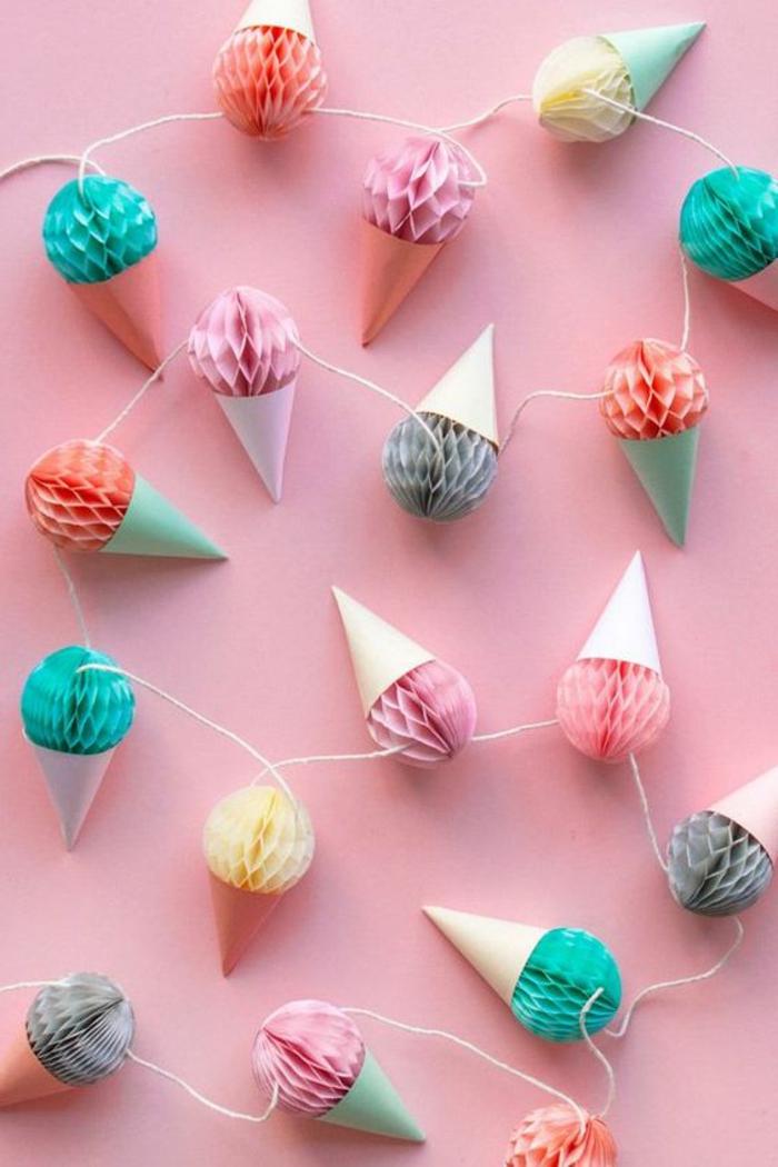 decorazioni-fai-da-te-origami-gelati-carta-cono-ghirlanda-fai-da-te-addobbare-finestre