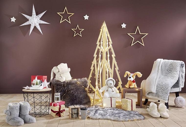 Alberi di Natale originali, creare comfort con le decorazioni natalizi e un alberello luminoso