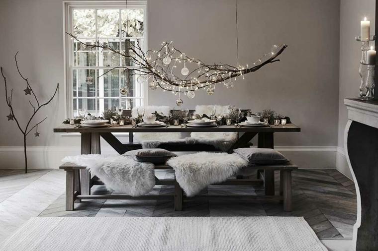 addobbi natalizi, una proposta minimal perfetta per un ambiente arredato in stile nordico
