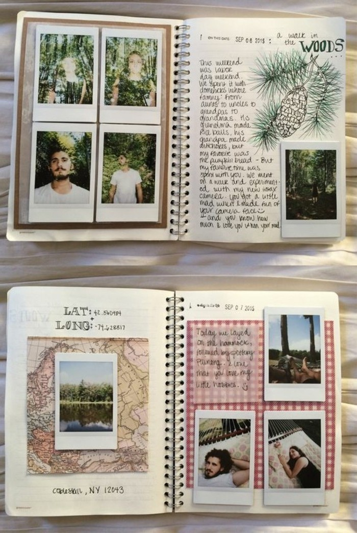diari-di-viaggio-idea-collage-foto-cartoline-cartina-geografica-scritte-idea-decorazione-disegni
