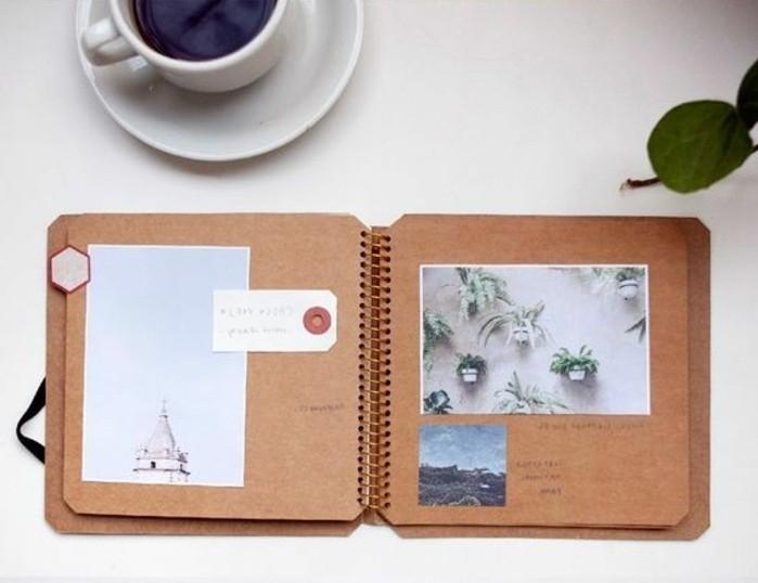 diario-di-viaggio-cartone-pagine-rigide-riciclate-immagini-foto-piante-paesaggi-architettura-tazza-caffè