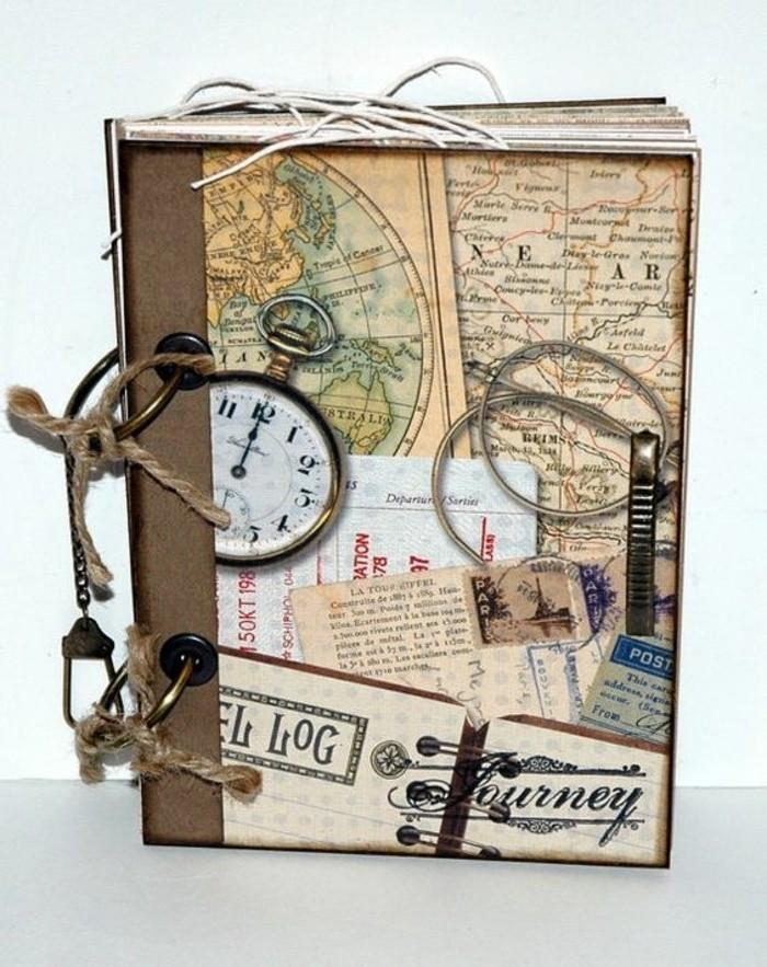 diario-di-viaggio-copertina-rigida-idea-decorazione-ritagli-giornale-stile-vintage-vecchio-antico