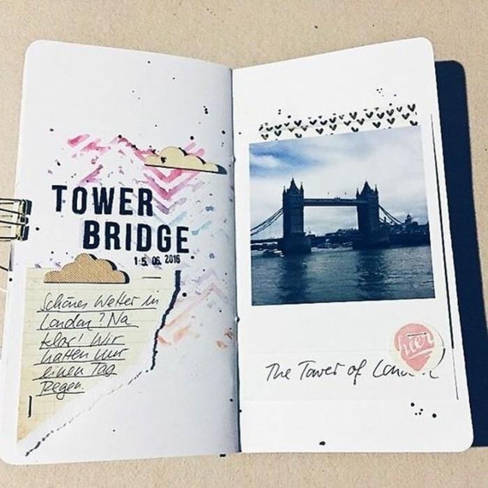 diario-di-viaggio-foto-di-tower-bridge-scritta-disegno-colorato-ricordi-clima-temperature-fermapagine