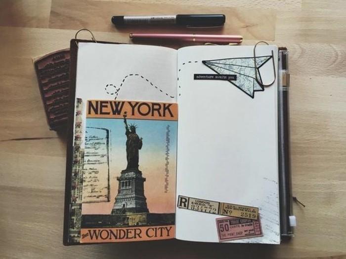 diario-di-viaggio-idea-come-fare-decorazioni-cartolina-New-York-Statua-della-Libertà-disegno-a-matita-trattini