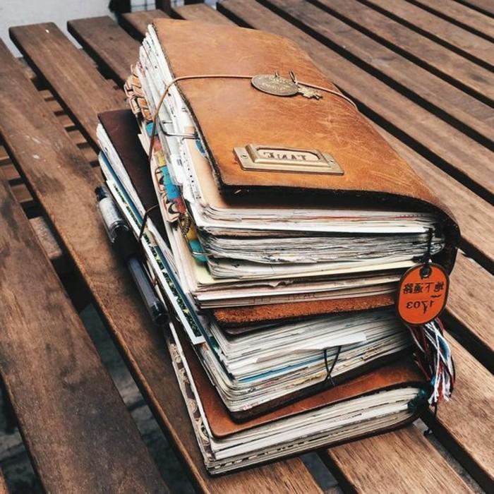 diario-di-viaggio-immagini-foto-fogli-segnalibro-idee-copertina-cuoio-pelle-colore-marrone