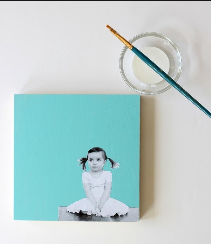diy-decorazione-murale-foto-bambina-figlia-colore-fondo-blu-idea-fai-da-te-orignale-regalo-festa-del-papà
