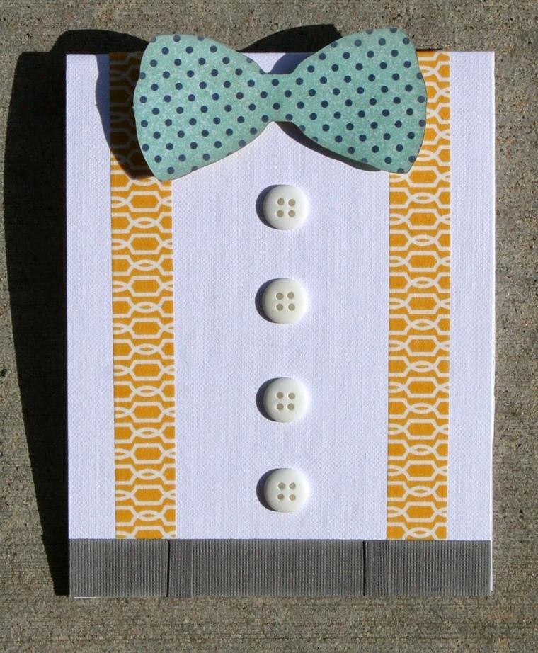 idee regali fai da te, un'idea originale per realizzare un biglietto di auguri per il papà a forma di camicia