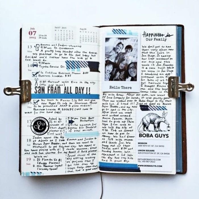 foto-collage-diario-viaggio-idea-decorazione-bricolage-disegni-a-matita-immagini-idee-decorazione