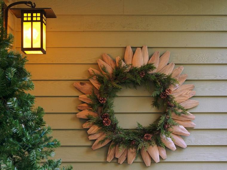 1001 idee per ghirlande natalizie anche da realizzare fai for Decorazione natalizia per porta