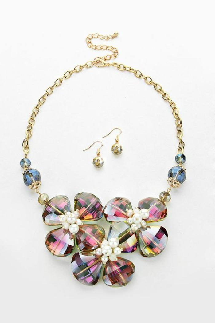 gioiello-pietre-colorate-collana-orecchini-abbinati-elegante-abbinare-vestiti-casual