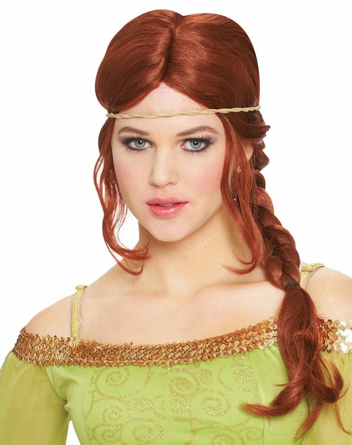 giovane-donna-capelli-lunghi-rosso-intenso-riga-mezzo-treccia-lato-corona-fronte
