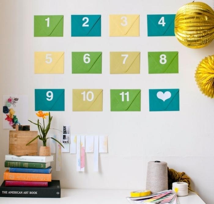 idea-calendario-avvento-festa-del-papà-sorpresine-ogni-giorno-bustine-carta-colorata-attaccate-muro-decorazioni-accessori
