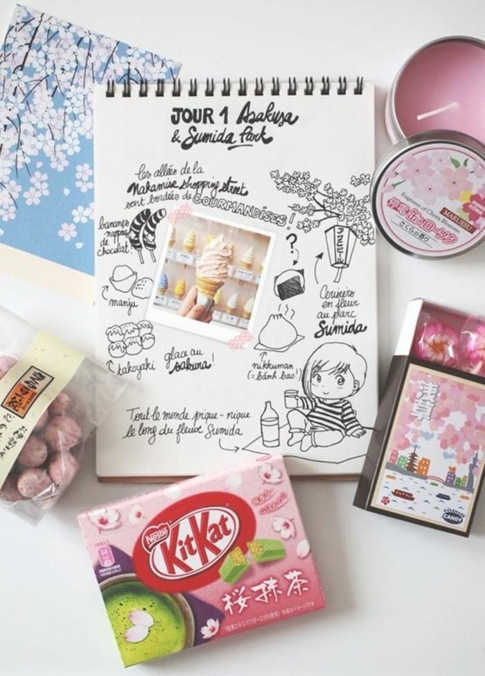idee-disegni-diario-viaggi-foto-gelato-gomme-da-masticare-candela-rosa-caramelle